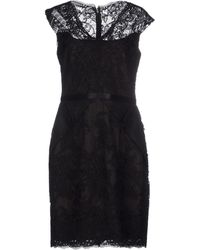 Notte by Marchesa Short Dress black - Lyst