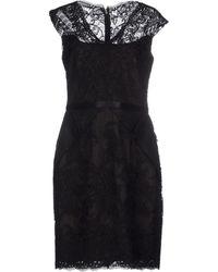 Notte by Marchesa Short Dress black - Lyst