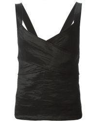 Donna Karan New York Cross Chest Fitted Top - Lyst