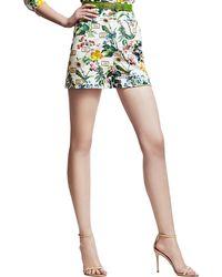 Carolina Herrera Botanicalprint Shorts Whitegreen - Lyst