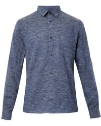 A.P.C. Cotton and Wool-blend Shirt - Lyst