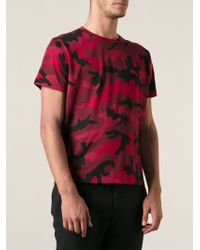 Valentino Camouflage Print T-Shirt - Lyst