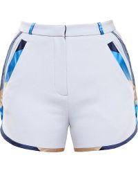 Ostwald Helgason - Silk Mikado Trim Shorts - Lyst