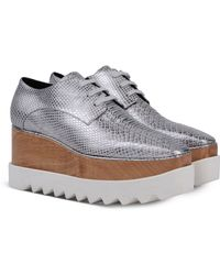 Stella McCartney Chrome Elyse Shoes silver - Lyst