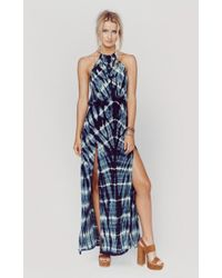 Blue Life | 2 Slit Halter Dress | Lyst