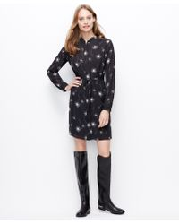Ann Taylor Dandelion Print Shirtdress - Lyst