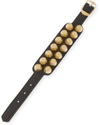 Balenciaga Giant 12 Wide Leather Bracelet With Studs - Lyst