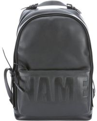 3.1 Phillip Lim Black Leather Embossed Name Drop Backpack - Lyst