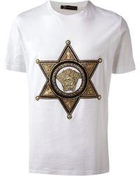 Versace Medusa Star Tshirt - Lyst