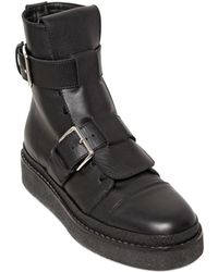 Marni 30Mm Leather Combat Boots - Lyst