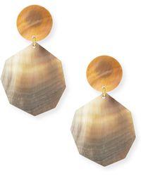 Viktoria Hayman Freeform Silver Foil Earrings 6Doa6YE9VB