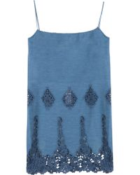 Miguelina Anna Embroidery Cotton Dress - Lyst