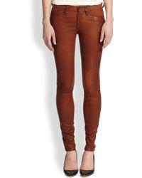 Rag & Bone/JEAN Leather Skinny Jeans - Lyst