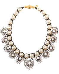 Shourouk Fawcett Crystal Necklace - Lyst