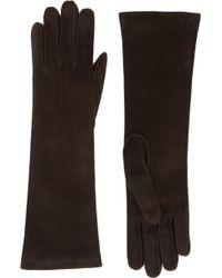 Barneys New York Brown Midforearmlength Gloves - Lyst
