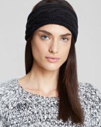 C By Bloomingdale's | Cashmere Cable Knit Headband | Lyst