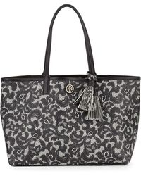 Tory Burch Kerrington Lace-print Shopper Tote Bag - Lyst