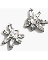 J.Crew Blooming Crystal Earrings white - Lyst