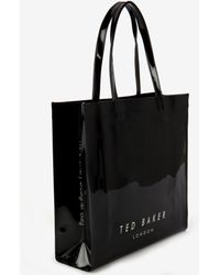 Ted Baker Patent Bow Shopper - Lyst
