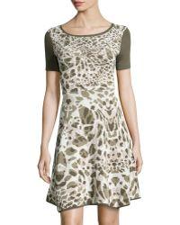 Catherine Catherine Malandrino Jersey Fitflare Dress - Lyst