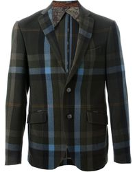 Etro Checked Jacket - Lyst