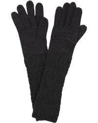 AKIRA - Long Knit Gloves - Lyst