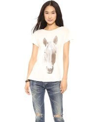 Wildfox Horse Tee Vintage Lace - Lyst