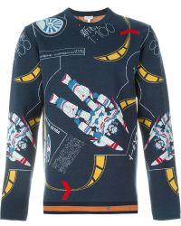 Loewe | Robot Intarsia Sweater | Lyst