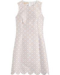 Michael Kors Eyelet Jacquard Dress - Lyst