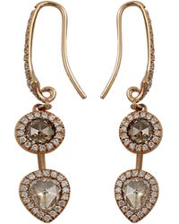 Inbar - Rosecut Diamond Drop Earrings - Lyst