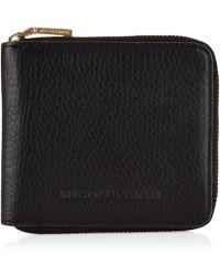 Nicole Farhi | Small Zip Around Wallet Silk Calf | Lyst
