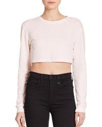 True Religion Joan Smalls X Cropped Sweatshirt pink - Lyst