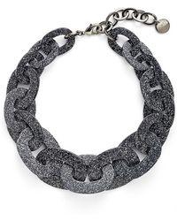 Pono - Glitter Paperchain Choker Necklace - Mica/ Black/ Silver - Lyst