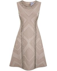 Hervé Léger Jaclyn Fit and Flare Dress - Lyst