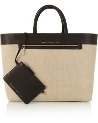 Victoria Beckham - Liberty Inside Out Canvas And Leather Tote - Lyst