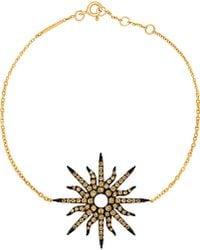 Christina Debs - Sunshine 18ct Pink-gold And Diamond Bracelet - Lyst