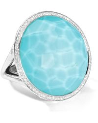 Ippolita - Stella Large Lollipop Ring In Turquoise Doublet With Diamonds - Lyst