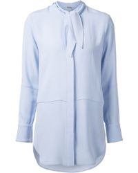 Adam Lippes Buttoned Blouse - Lyst