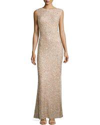 Alice + Olivia Sachi Sleeveless Embellished Gown - Lyst