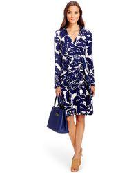 Diane von Furstenberg T72 Silk Jersey Wrap Dress blue - Lyst