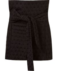 Giuliana Romanno - Embroidered Belt Shorts - Lyst