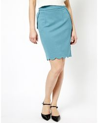 Darling | Gracie Scalloped Hem Skirt | Lyst