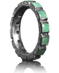 Nak Armstrong - Sterling Silver And Emerald Eternity Ring - Lyst
