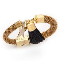 Holst + Lee - Holst + Lee Mesh Star Tassel Bracelet - Gold/Black - Lyst