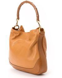 Gucci Brown Two Way Handbag - Lyst