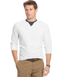 Izod Long-Sleeve Raglan Pullover - Lyst