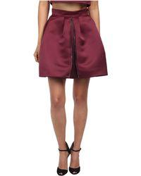 McQ by Alexander McQueen Zip Part Skirt - Lyst
