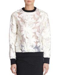 Erdem - Petal Embroidered Sweatshirt - Lyst