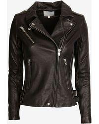 Iro Side Zipper Leather Jacket Black - Lyst