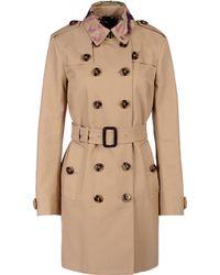Burberry Prorsum Brown Fulllength Jacket - Lyst